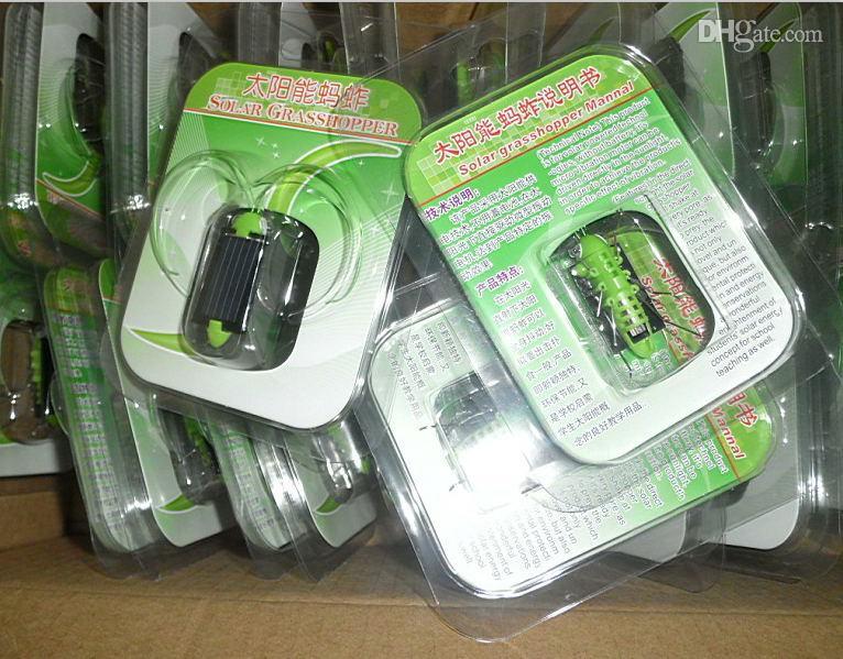 FedEx 2013 Nieuwe Wholesale Mooie Mini Solar Energy Powered Child Kid Speelgoed Locust, Groothandel Gratis Schip Solar Grasshopper Insect Bug Moving Toy