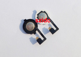 Wholesale Iphone Home Button Cap - Original And New Home Button Flex Cable With Key Cap assembly for iPhone 4 4G White Black 20pcs lot