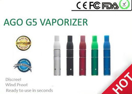 Wholesale dry herb vaporizers electronic cigarette - Hot SALE AGO G5 Dry Herb vaporizer for Wind proof electronic cigarette herb G5 pen style dry herb Atomizer Clearomizer vaporizers ecigarett