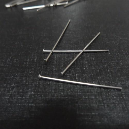 500 stücke Edelstahl Kopf Pins Ohrring Handwerk Schmuck Machen Anhänger Pins Flachkopf Erkenntnisse 35mm