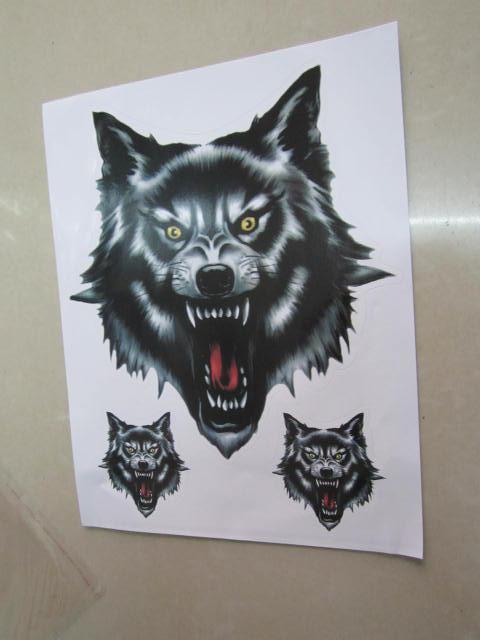 /  Calcomanías de lobo fresco por mayor para automóvil / motocicleta / camión / pared