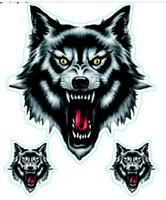 Wholesale Wolf Body Decals - (50PCS LOT) Wholesale cool Wolf decals for car   motorcycle   truck  wall