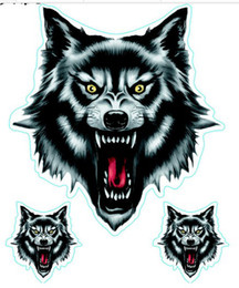 Wholesale Motorcycle Wall Stickers - (50PCS LOT) Wholesale cool Wolf decals for car   motorcycle   truck  wall