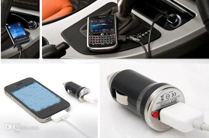 bunte Mini-USB-Auto-Ladegerät für iPhone 5 3GS 4G 4S für MP3 MP4 HTC Samsung S4 S3 N7100 FEDEX
