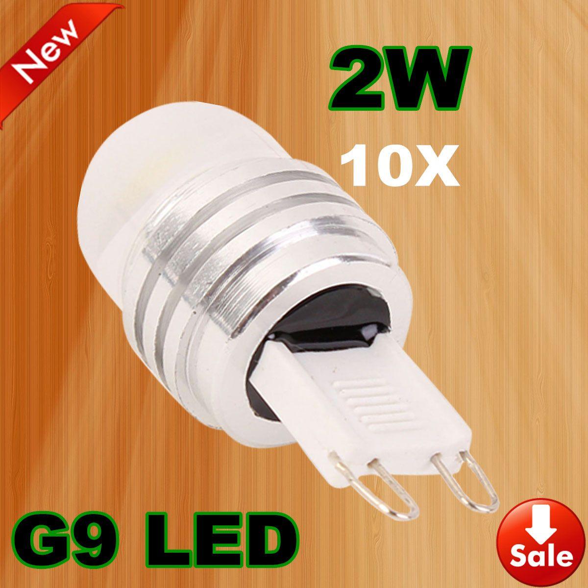 10X G9 2W LED Lamp Bulb Cool / Warm White 180 Degree Light Energy Saving For Living Room Bed Room Garden DC12V Free shipping