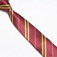 Wholesale Striped School Tie - Striped Harry Potter Tie for man school ties