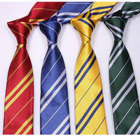 Wholesale Striped School Tie - Striped Harry Potter Tie school ties for man