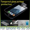 2013 Anti Crack iphone 5 5G 4 4S Explosion Proof Tempered Glass Screen Film Anti Scratch Protector Durable Automatic exclusion of air 10PCS