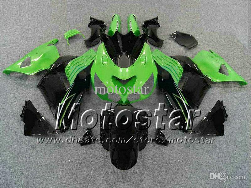 Kawasaki Ninja ZX14R 2006 için set 100% Enjeksiyon arabaları 2006 2008 2009 ZX14 06 07 08 09 ZX 14R kaporta kiti fa12