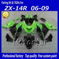 kawasaki ninja zx14 großhandel-100% Injection Verkleidung Set für Kawasaki Ninja ZX14R 2006 2007 2008 2009 ZX14 06 07 08 09 ZX 14R Verkleidung Kit Fa12