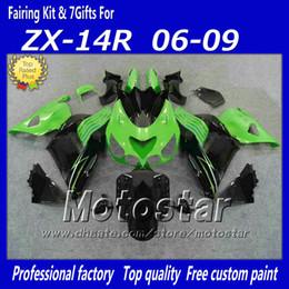 inyección de carenado zx14 Rebajas Carenados de inyección 100% establecidos para Kawasaki Ninja ZX14R 2006 2007 2008 2009 ZX14 06 07 08 09 ZX 14R kit de carenado fa12