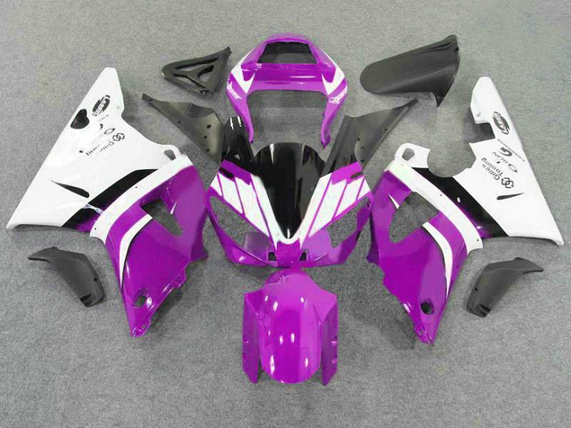 7ギフトのオートバイのフェアリングキットヤマハフェアリング2000 2001年YZF-R1紫色の高級ボディワークセット00 01 yzfr1 yzf R1 FD23