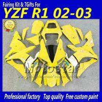 Wholesale yamaha r1 fairings black yellow resale online - Yellow white black fairing set YZF R1 YZFR1 fairings kit YZF R1 YZFR1000 body work parts for YAMAHA nf24
