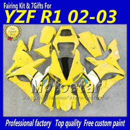 2019 kit carcaça yamaha r1 Conjunto de carenagem preto branco amarelo YZF-R1 2002 2003 YZFR1 02 03 kit de carenagem YZF R1 YZFR1000 carroçaria peças para YAMAHA nf24 kit carcaça yamaha r1 barato