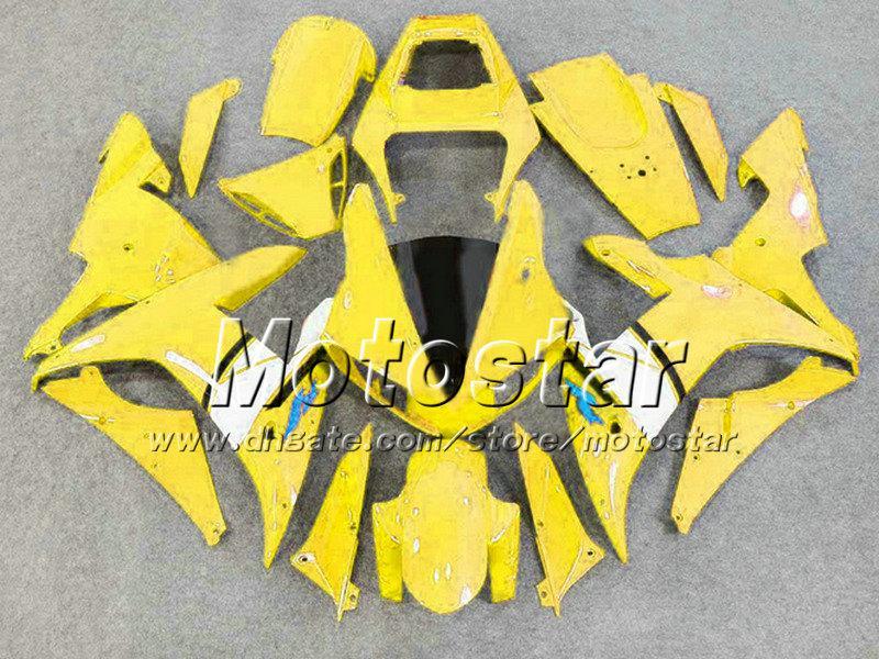 Gul Vit Svart Fairing Set YZF-R1 2002 2003 YZFR1 02 03 Fairings Kit YZF R1 YZFR1000 Kroppsarbetsdelar för Yamaha NF24
