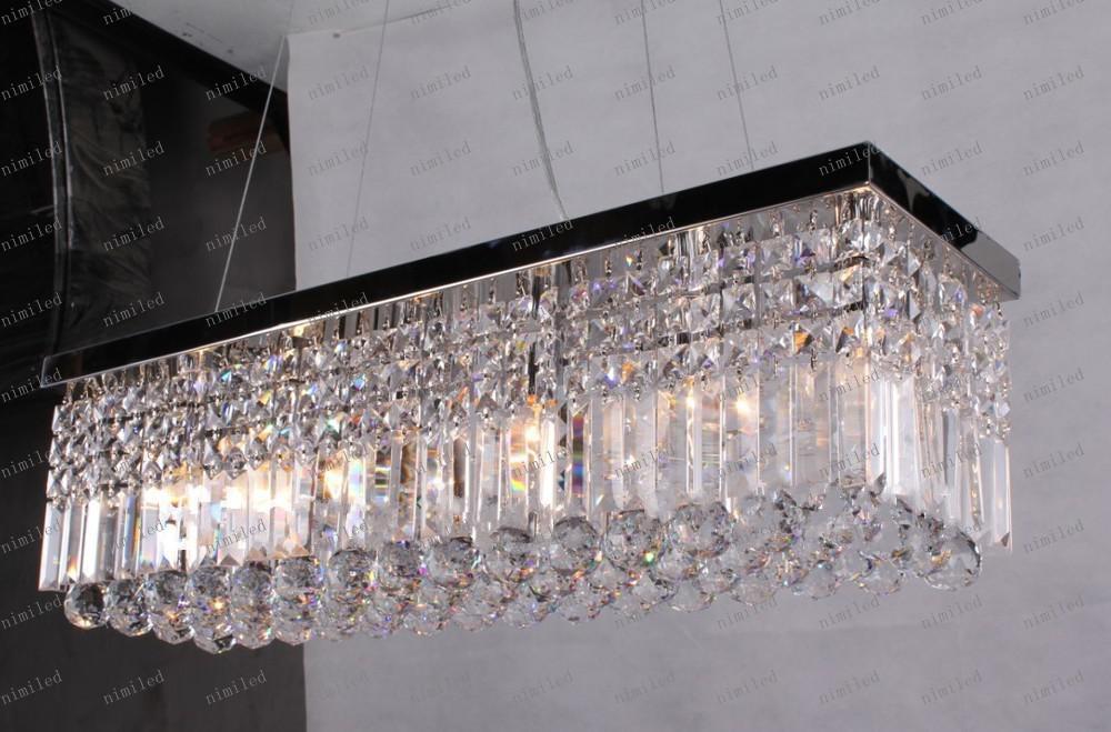 LLFA98 Freies Verschiffen K9 LED Kristall-Leuchterrechteck führte die moderne Deckenstange, die L 50 * W 22cm beleuchtet