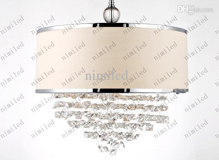 Modern Trendy White Lampshade ljuskrona K9 Crystal Lampa Bedroom Light Attentive After-Sales Real Crystal Lly126