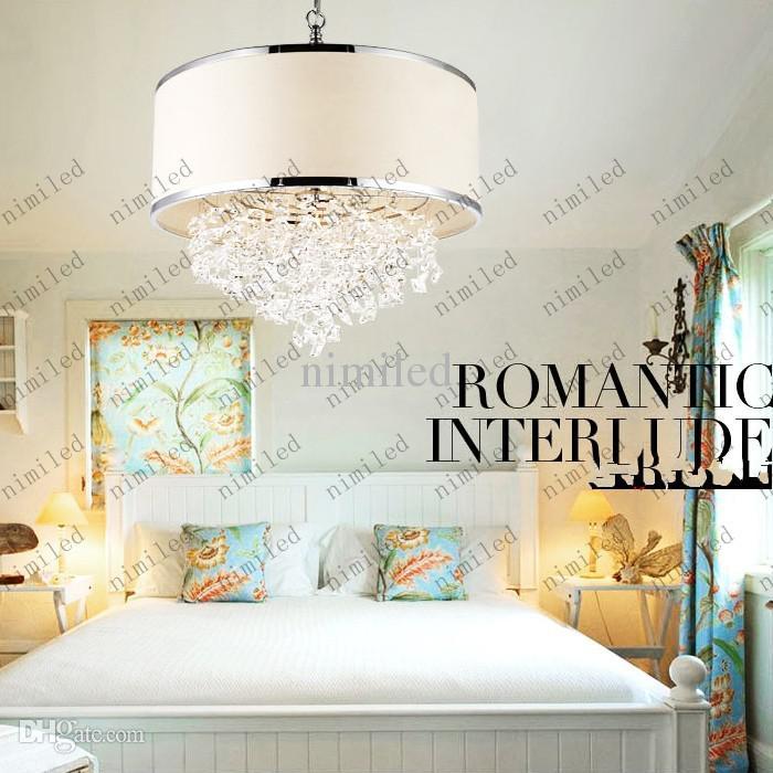 현대 유행 백색 갓 샹들리에 K9 크리스탈 램프 침실 빛 세심한 애프터 판매 진짜 크리스탈 LLY126