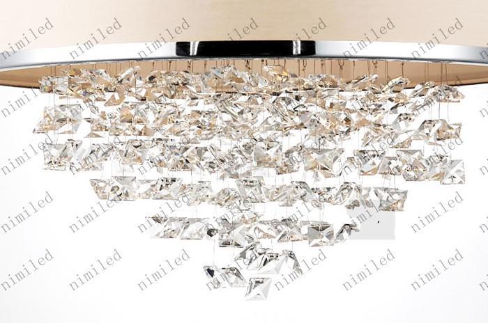 Moderne modische weiße Lampenschirm-Leuchter-K9 Kristalllampen-Schlafzimmer-Licht-aufmerksames After-Sales-Echtkristall LLY126