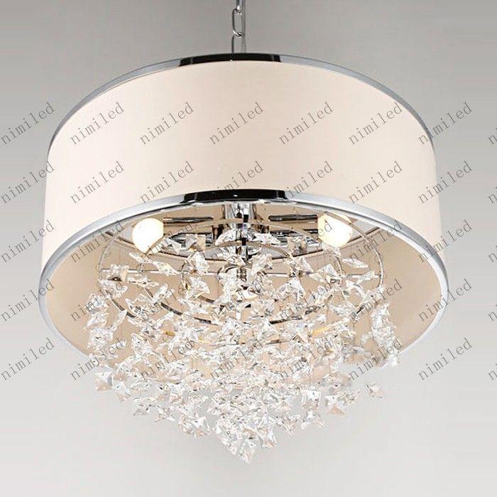 Lámpara de moda moderna lámpara de araña de cristal blanco K9 Dormitorio de la lámpara Atento después de las ventas Real Crystal LLY126