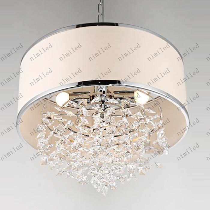 Modern Trendy Bianco Paralume Lampadario K9 Cristallo Lampada Camera da letto Luce Attenta After-sales Cristallo reale LLY126