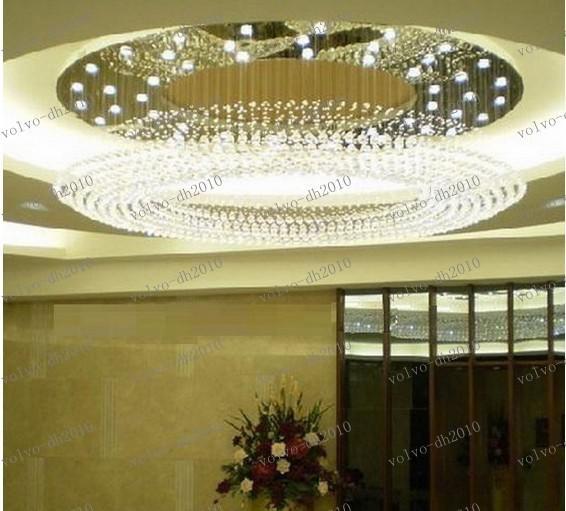 LLFA3340 freies Verschiffen 2013 neues modernes Entwurfs-Superhotel, das Dia800 * H350mm Deckenkristallleuchter für Halle beleuchtet