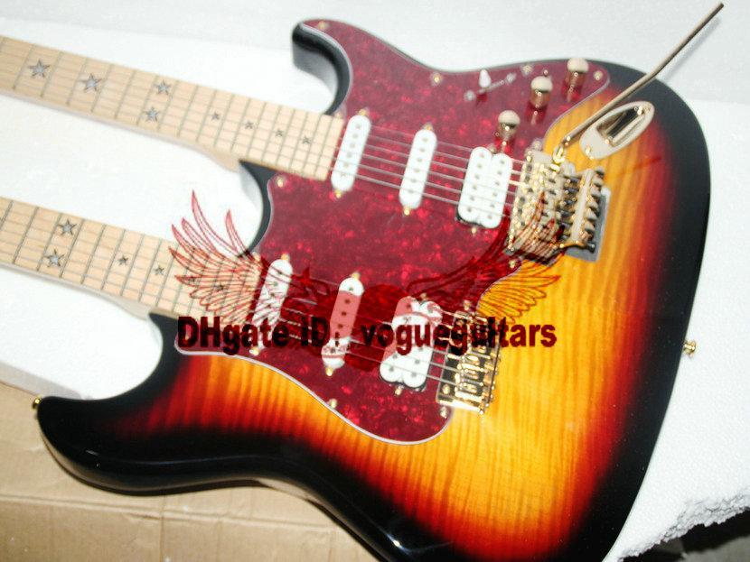 Custom shop Double neck gitarren 6 saiten 6 saiten E-gitarre in Vintage Kostenloser Versand