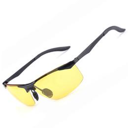 Canada 2017 AORON Marque Hommes alliage lunettes de vision nocturne lunettes de soleil miroir mode en métal lunettes polarisées pour la conduite YJA147 livraison gratuite Offre