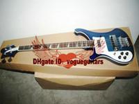 ingrosso chitarra elettrica sinistra a mano libera-Custom 4 corde mancino 4003 Bass Blue tastiera in palissandro basso elettrico Spedizione gratuita