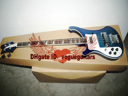 Wholesale custom electric bass guitars - Custom 4 strings left handed 4003 Bass Blue rosewood fingerboard Electric Bass Guitar Free Shipping