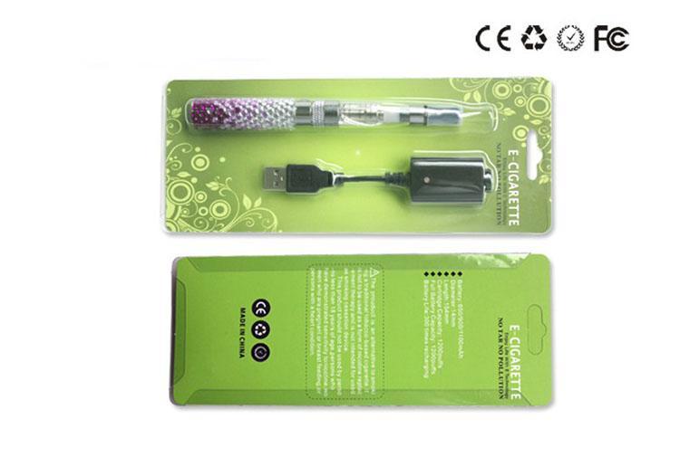 Ego Diamant Batterie Starter Kit CE5 Zerstäuber Clearomizer elektronische Zigarette E Cig Blister 650 900 1100mah Batterie EGO VV EVOD Twist Ego t