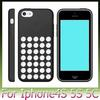 1:1 Colorful Small Dot Hole Silicone Soft Back Cover case for apple iphone 5C iphone5 300PCS FEDEX Free Shipping
