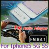 30pcs FM Audio Adapter for iPhone 5 colorful 30 pin to 8 pin FM Transmitter 3.5mm Output Data Charger For Iphone5 5G 5S Ipod Itouch Nano 7