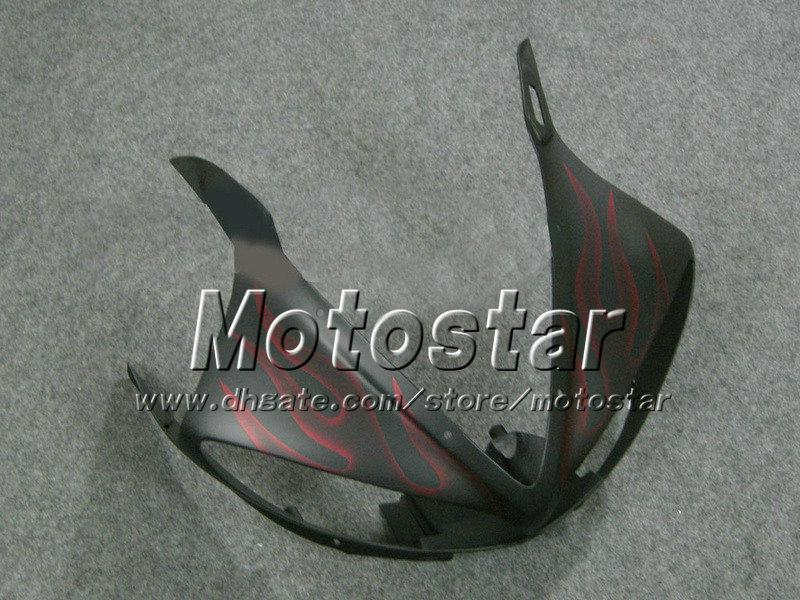 Red flame matt black fairings set for YZF600 03 04 YAMAHA YZF-R6 03 04 YZFR6 2003 2004 ABS fairing body kit YZF R6