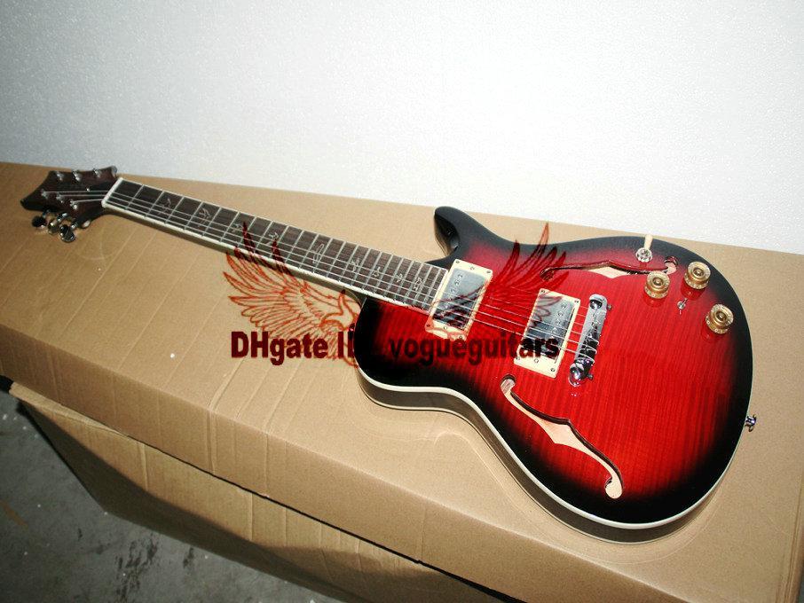 El más nuevo Custom Shop Smith Electric Guitar EN negro rojo de alta calidad HOT Musical insruments