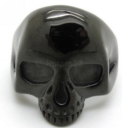 Wholesale Ghost Jewelry - Fashion Black Jewelry, Biker Mens Gothic Style 316L Stainless Steel Cool Skull Ring Ghost New Arrival Free Shippin