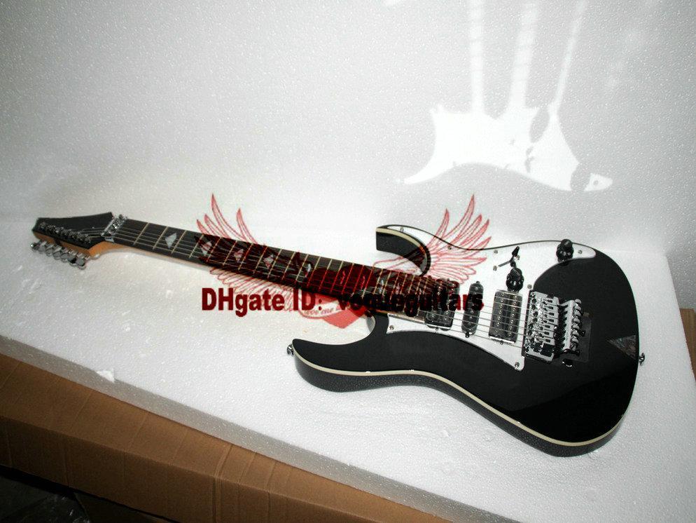 Svart 7 strängar gitarr anpassade 7 strängar elektrisk gitarr högkvalitativ gitarr