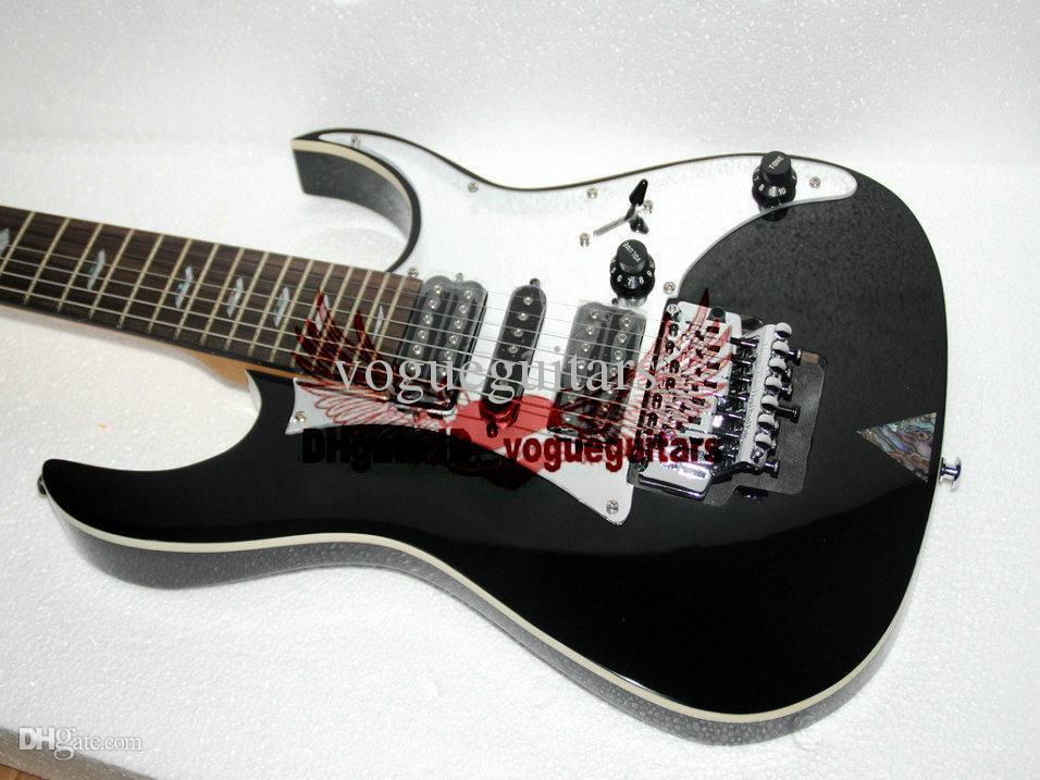 Black 7 Strings guitar Custom 7 Strings Electric Guitar High Quality guitar