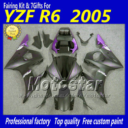 $enCountryForm.capitalKeyWord Canada - Purple flame matt black ABS plastic full fairing kit for YAMAHA YZF-R6 05 YZFR6 05 2005 YZF R6 YZF600 customize fairings set gh36