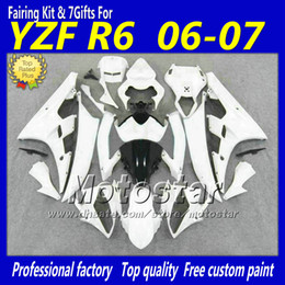 $enCountryForm.capitalKeyWord NZ - ABS plastic full fairing kit for YAMAHA YZF-R6 06 07 YZFR6 white black custom bodywork 2006 2007 YZF R6 YZF600 fairings