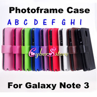 Wholesale For Galaxy Note PhotoFrame Wallet Flip PU leather Case Cover With Credit Card Pouch Pocket For Samsung Galaxy Note III N9000