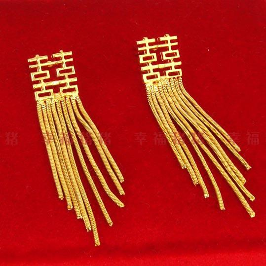 Our Gold Plated Earring Earring Nail Design High Simulation Thousands Of Gold 24k Wedding Bride To Be Female Style Hi