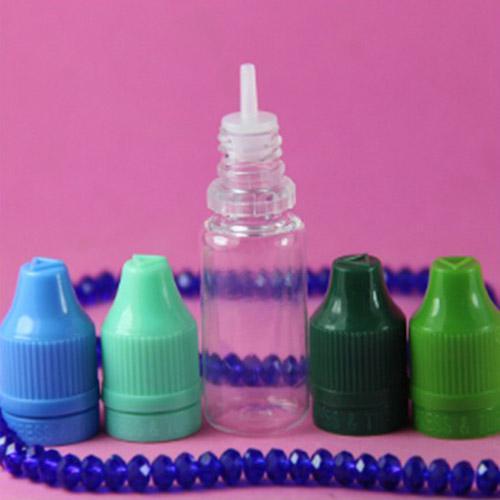 Colorido 5ml 10ml 15ml 20ml 30ml 50ml Empty E Botellas cuentagotas de plástico líquido con tapas de botella a prueba de niños Aguja E líquido
