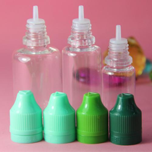 Färgglada 5ml 10ml 15 ml 30ml 50 ml Tomt E flytande plastdropparflaskor med barnsäker flaskkapslar nålstips E-vätska