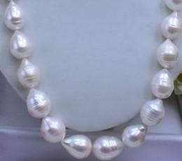 2019 riesige weiße barockperlen NEUE feine Perlenschmuck seltene australische riesige 13-15mm Akoya weiß BAROCKE Perlenkette 14K günstig riesige weiße barockperlen