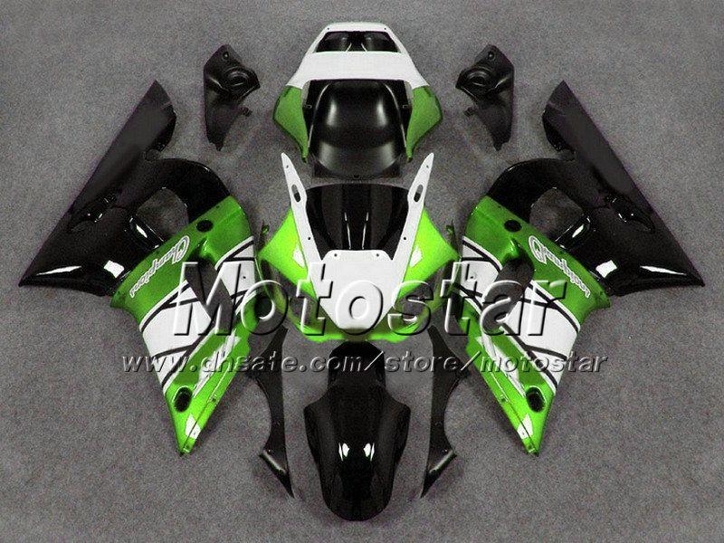 ABS green white black fairing bodykit for YZF R6 1998-2002 YAMAHA body kits YZF-R6 98 99 00 01 02 YZFR6 motorcycle fairings