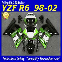 $enCountryForm.capitalKeyWord Canada - ABS green white black fairing bodykit for YZF R6 1998-2002 YAMAHA body kits YZF-R6 98 99 00 01 02 YZFR6 motorcycle fairings