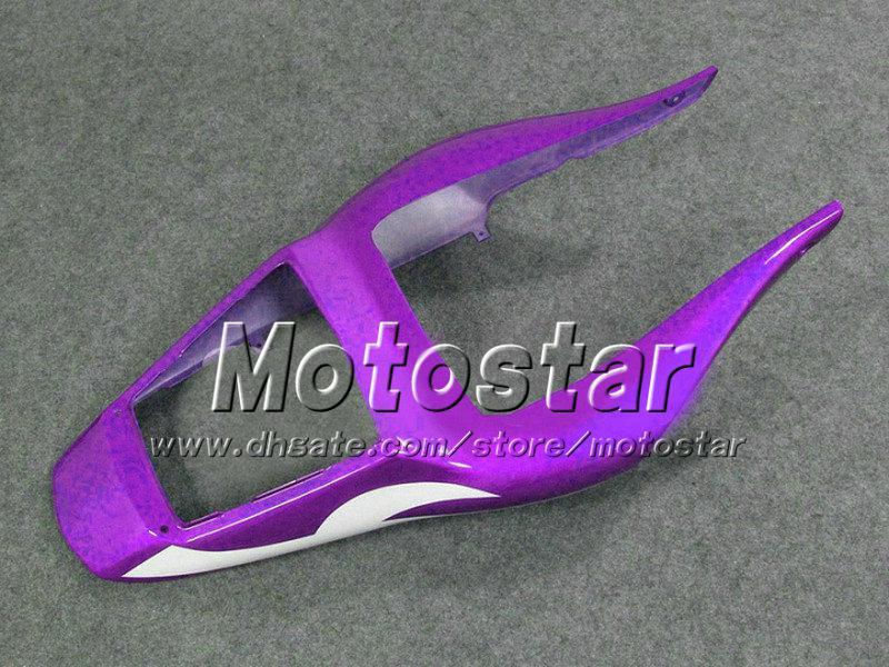 Custom purple white black motorcycle parts for YAMAHA fairing YZFR6 1998 1999 2000 2001 2002 YZFR6 98-02 YZF R6 fairings kit