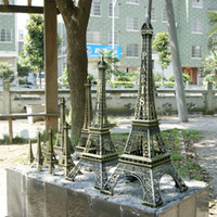 Wholesale Eiffel Tower Decorations Wedding - Novelty Bronze Color Paris Eiffel Tower Desktop placed decorative ornaments for Home Decoration Romantic Wedding Gift