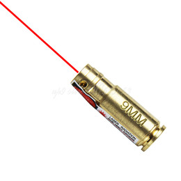 Kartusche boresighter online-Tactical Hunting 9mm Bohrung Sighter 9 mm Laser Boresighter Rot Laser 9mm Messing Cartridge